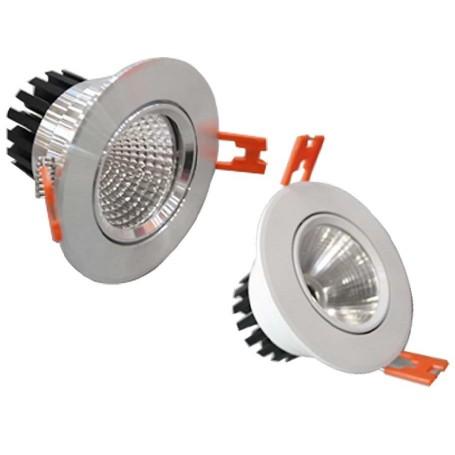 LED Spot Ф140mm 10W 600Lm K3000 weiß /silber