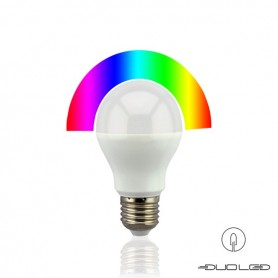 LED E27 bulb RGBW 6W 2.4Ghz RF WIFI
