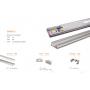 Alu Profil 1707 für LED strip 2m Set
