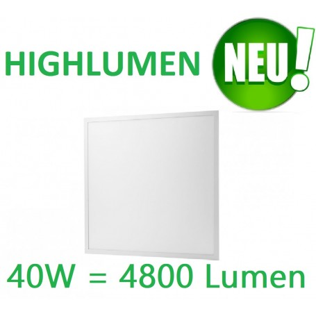 LED Panel EPISTAR 62x62cm 40W Highlumen weiss