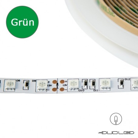 LED Strip SMD5050 12V 14.4W/m green IP20 60LED/m