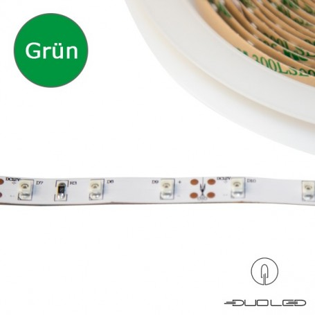 LED Strip SMD3528 12V 4.8W/m grün IP65 60LED/m