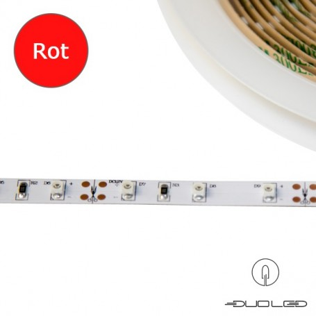 LED Strip SMD3528 12V 4.8W/m rot IP65 60LED/m