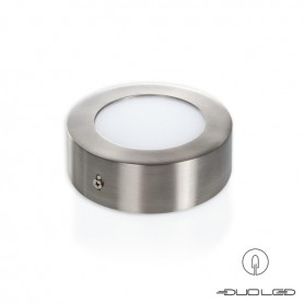 LED Aufbauleuchte rund silber Ф120mm 6W 390Lm
