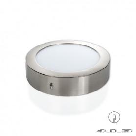 LED Aufbauleuchte rund silber Ф174mm 12W 960Lm