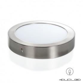 LED Aufbauleuchte rund silber Ф225mm 18W 1350Lm