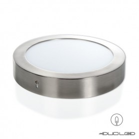 LED Ceilinglight round silver Ф225mm 18W 1350Lm