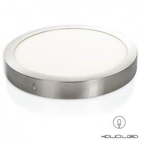 LED Aufbauleuchte rund silber Ф300mm 24W 1800Lm