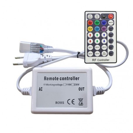 230V LED Strip RGB RF-controller with RF-remote
