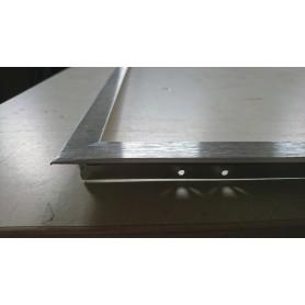 Einbaurahmen 62x62cm silber gebürstet