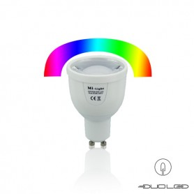 LED GU10 Spot RGB-CCT 4W 2.4 Ghz WIFI