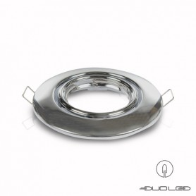 Mounting frame Basic chrome round swiveling Ø103mm