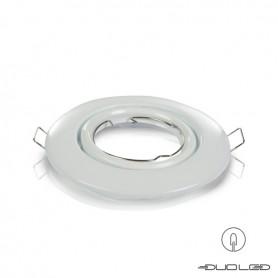 Einbaurahmen Basic Weiss rund schwenkbar Ø103mm