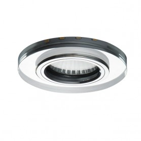 LED decoration recessed spot frame GU10 / GU5-3 glass design Ø90mm