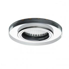 LED Deko Einbauspotrahmen GU10/GU5.3 Glasdesign Ø90mm