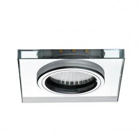 LED Deko Einbauspotrahmen GU10/GU5.3 Glasdesign 90x90mm