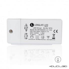 LED powersupply 15 Watt DC 12V 1,25A IP20