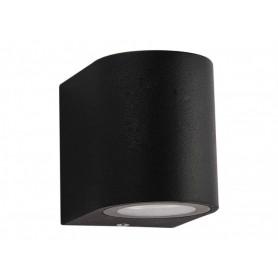 LED Down Exterior wall light GU10 black round