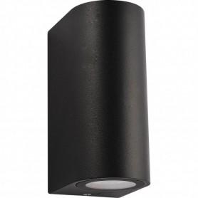 LED Up/Down Außen-Wandleuchte GU10 schwarz rund