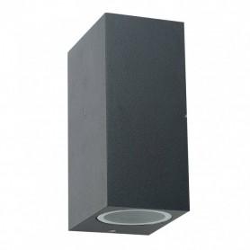 LED Up/Down Exterior wall light GU10 black square