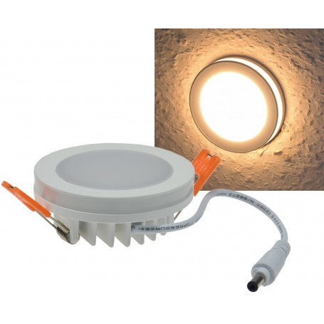 LED spot round Ф80mm with light-garland 6W K3000 IP44