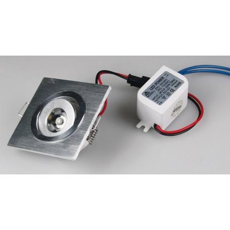 LED Mini Spot 60x60mm 1W 80Lm K3000