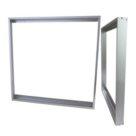 Aufbaurahmen 62x62cm silber