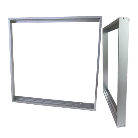 Surface mountingframe 62x62cm silver