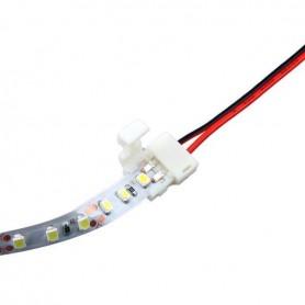 LED Strip Anschlußkabel 2polig einseitig Schnellverbinder 10mm