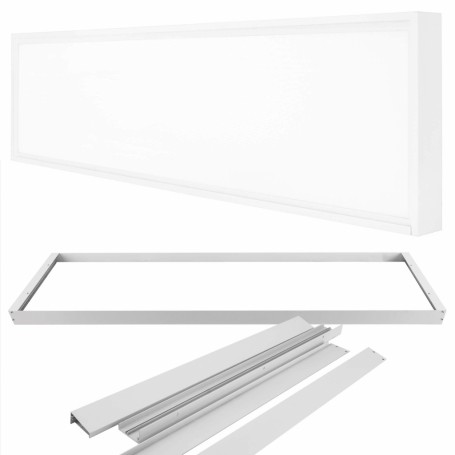 Surface mountingframe 30x120cm white