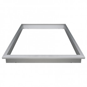 Recessed mountingframe 60x60cm silver