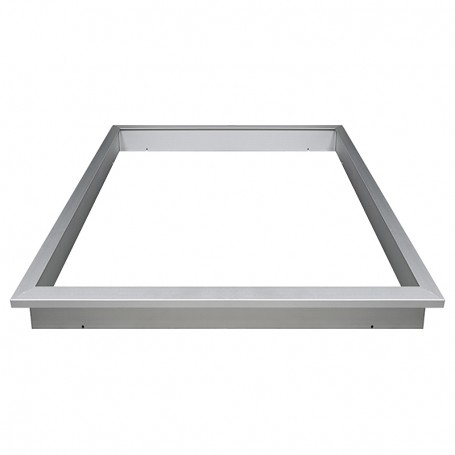 Recessed mountingframe 30x120cm silver