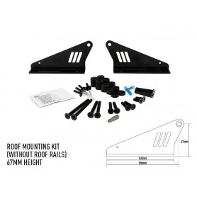 LAZER LAMPS roof mounting kit 67mm w/o rails