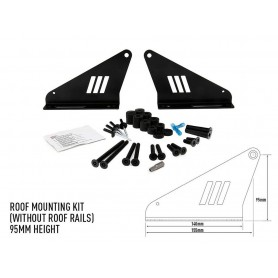 LAZER LAMPS roof mounting kit 95mm w/o rails