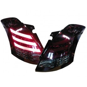 Lightbar LED rear lights Suzuki Swift Sport 2010-17 black/smoke