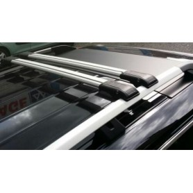 Wingcarrier V1 Ford Ranger roof rack set for railing in black or silver