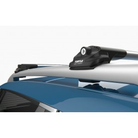TURTLE Ford Ranger roof rack set for railing in black or silver