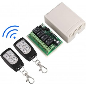 DUOLED radio relay 4 channel 12V with remote control