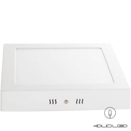 LED ceilinglight square white 18W 1350Lm 225x225mm