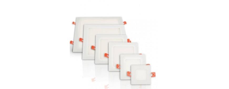 LED recessed light square white frame