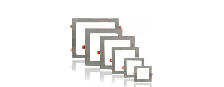 LED Einbaustrahler Eckig - Silberner Rahmen